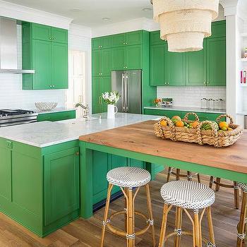 Kelly Green Kitchen Island Design Ideas