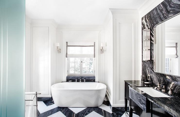 white and black marble chevron floor tiles contemporary bathroom rh decorpad com black and white marble bathroom floor tiles black and white marble effect bathroom tiles