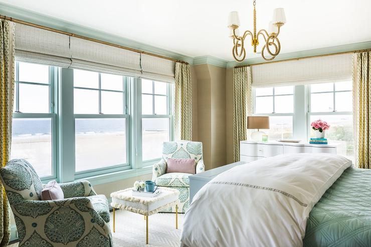 Blue and Taupe Master Bedroom - Transitional - Bedroom