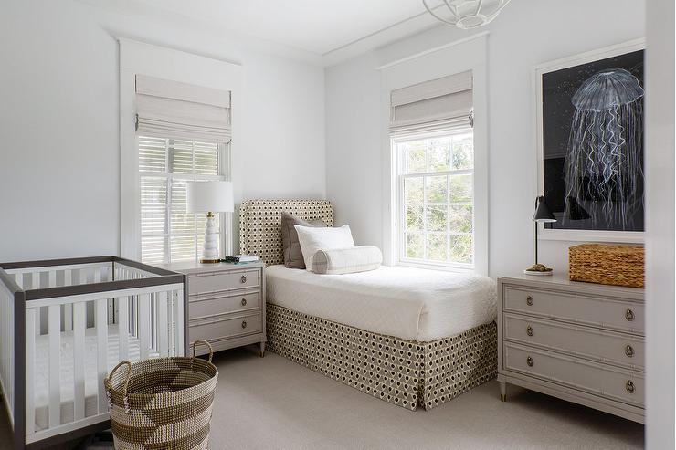 Gray Nursery With Twin Bed Cottage Boy S Room