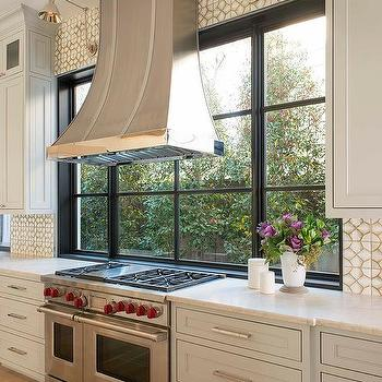 Marble Mosaic Backsplash Transitional Kitchen Para