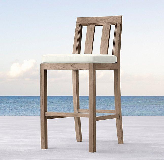 Admirable Teak Brown Woven Leather Bar Stool Bralicious Painted Fabric Chair Ideas Braliciousco