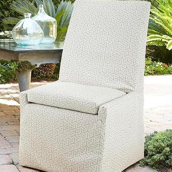 Maddox Slipcovered Dining Chair Charcoal Z Gallerie