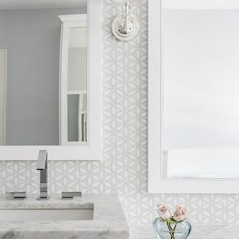 'White and Gray Mosaic Bathroom Wall Tiles' from the web at 'https://cdn.decorpad.com/photos/2017/05/05/m_gray-and-white-mosaic-wall-tiles.jpg'