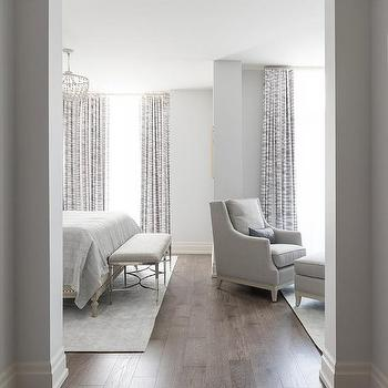 Gray Bedroom With Sitting Area