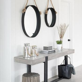 Industrial Concrete Foyer Table