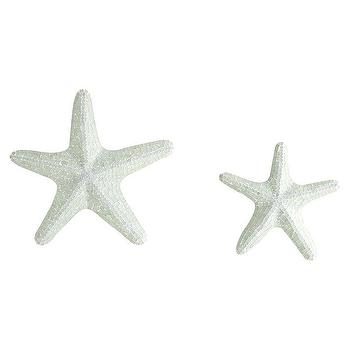Green Mosaic Starfish Set Decor