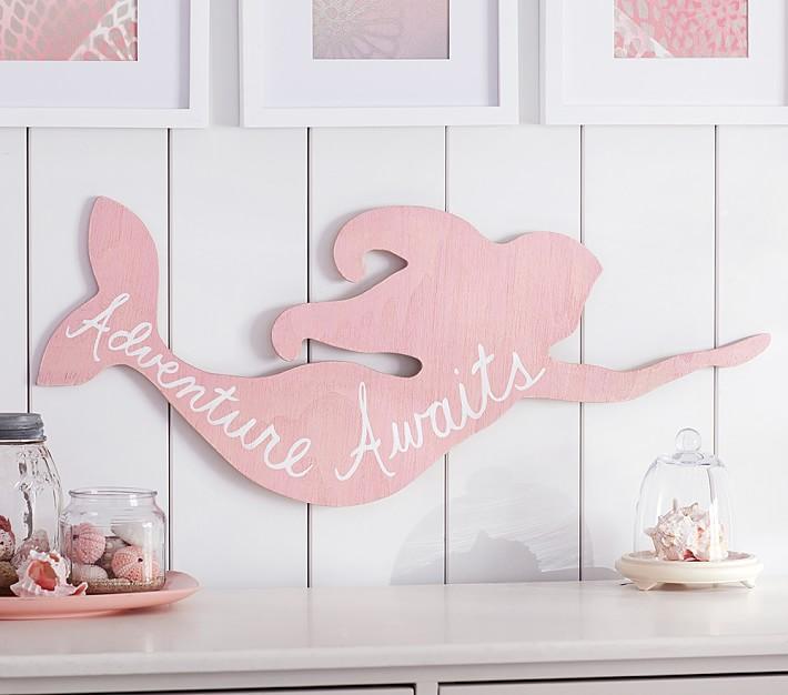 Ceramic Mermaid Bookends Aqua