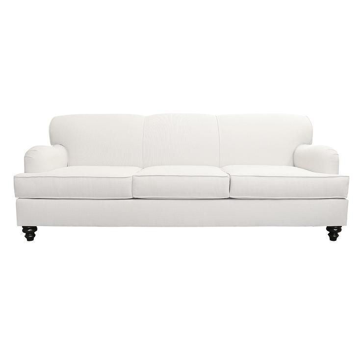Traditional rolled arm sofa awesome back leather sofa for Traditional sofas with legs