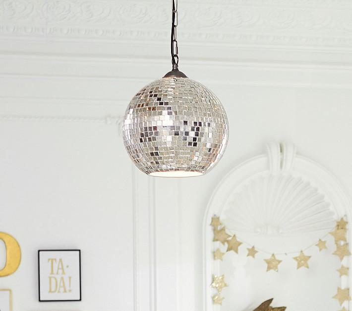 Emily meritt mirrored disco ball pendant aloadofball Images