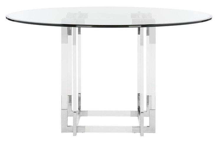 Koryn Round Acrylic Chrome Dining Table