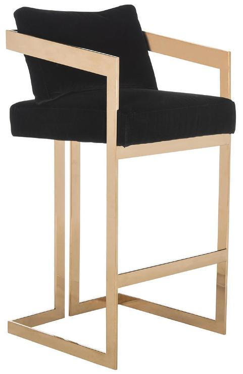 Nuevo Black Gold Chi Bar Stool