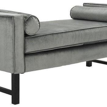 Gray Velvet Bedroom Bench - Products, bookmarks, design ...