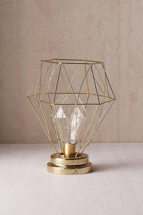 Serena Geo Gold Caged Table Lamp