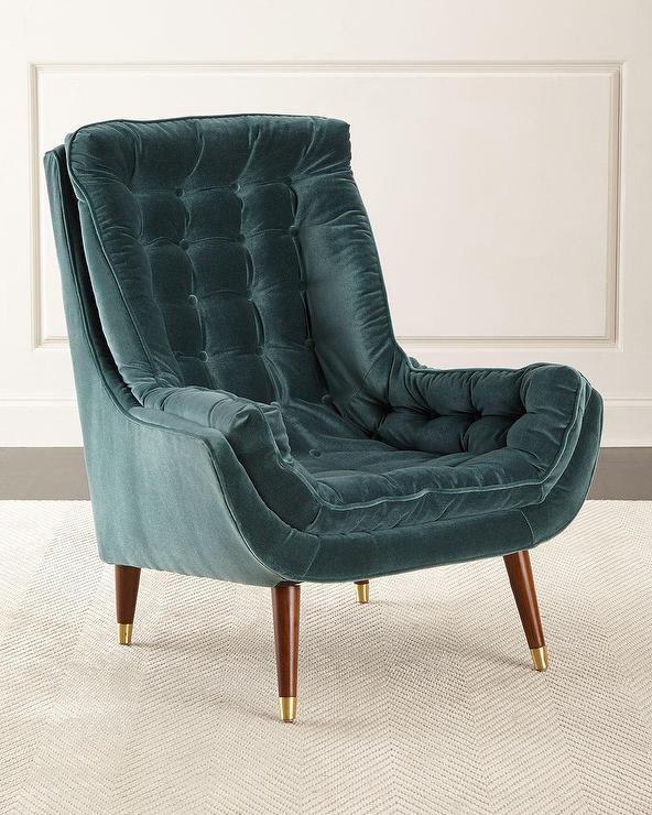 Regina Andrew Green Tufted Velvet Chair