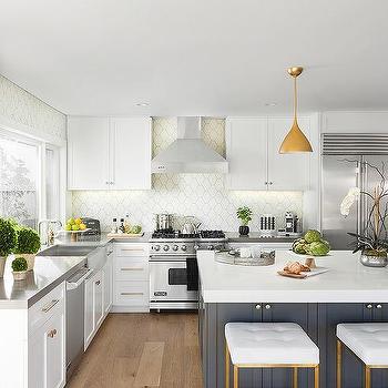 White Beehive Kitchen Tiles Design Ideas