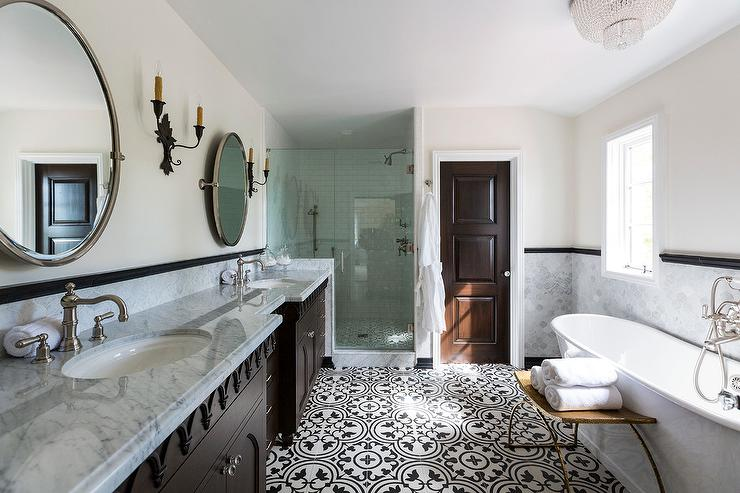 Exceptional Clean Lines Bring A Soothing Luxury Hotel Vibe To A Mediterranean Bathroom  Design. Part 17