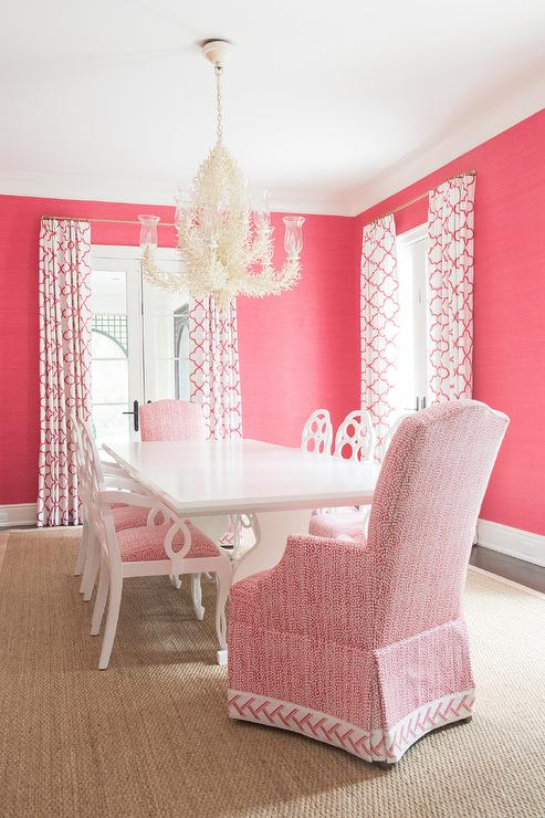 Hot Pink Dining Room - Transitional - Dining Room