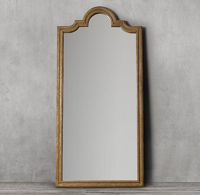Dakota Leaner Brown Beveled Mirror
