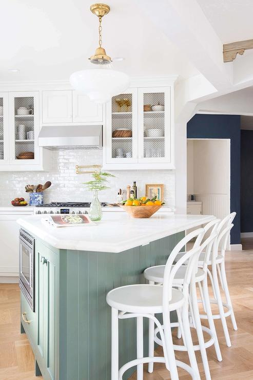 TRiangle Shaped Kitchen Island - Transitional - Kitchen