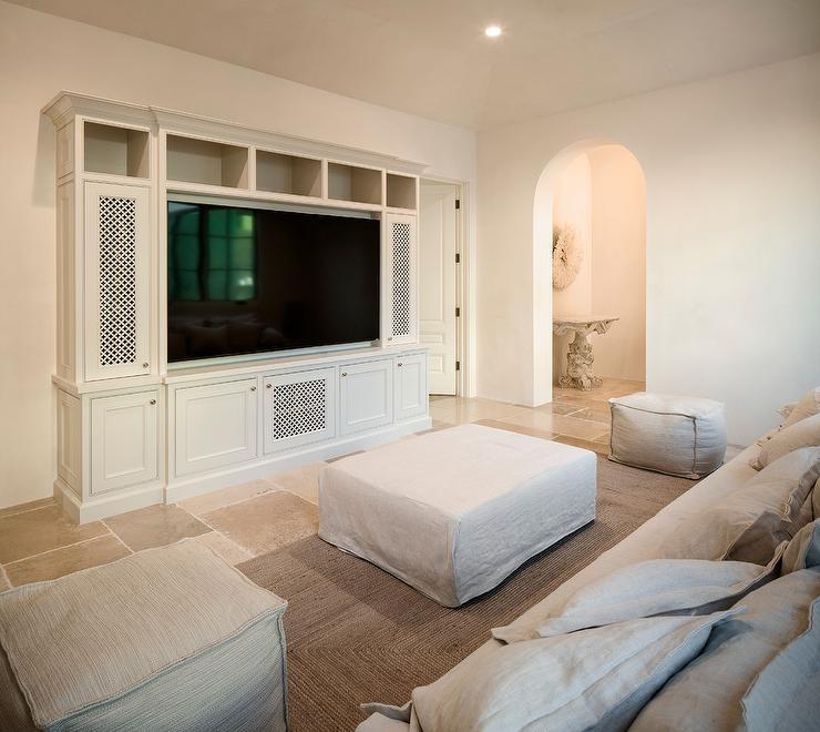 Light gray built in tv cabinet design ideas - Light gray room ...