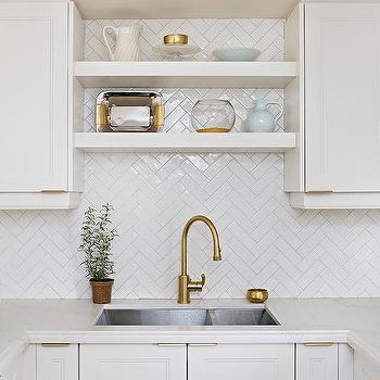 Tile In Kitchen Sink White herringbone kitchen sink tiles design ideas white herringbone backsplash tiles in u shaped kitchen workwithnaturefo