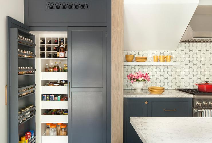 Kitchen pantry cabinet filled with lazy susan spice racks traditional kitchen - Spice rack for lazy susan cabinet ...