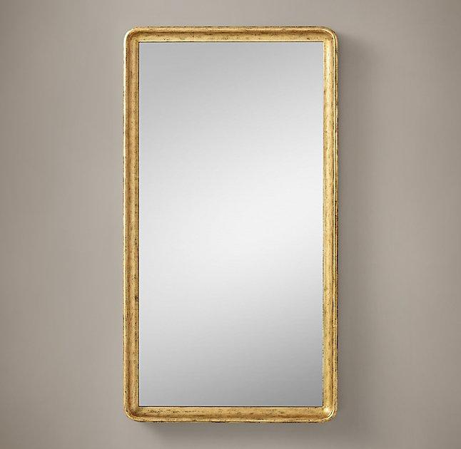 Rakka Rectangle Black Lacquer Mirror