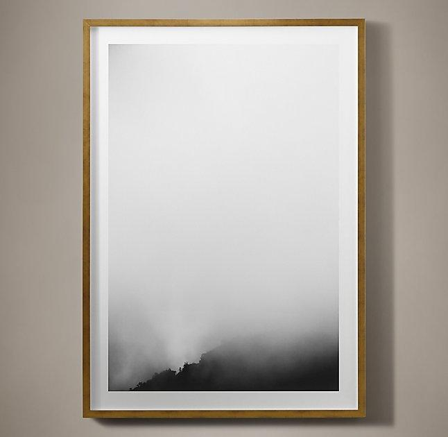 Kate Schermerhorn Mist Mountain Gold Framed Art