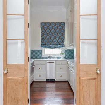 Glass And Wood Bi Fold Pantry Doors