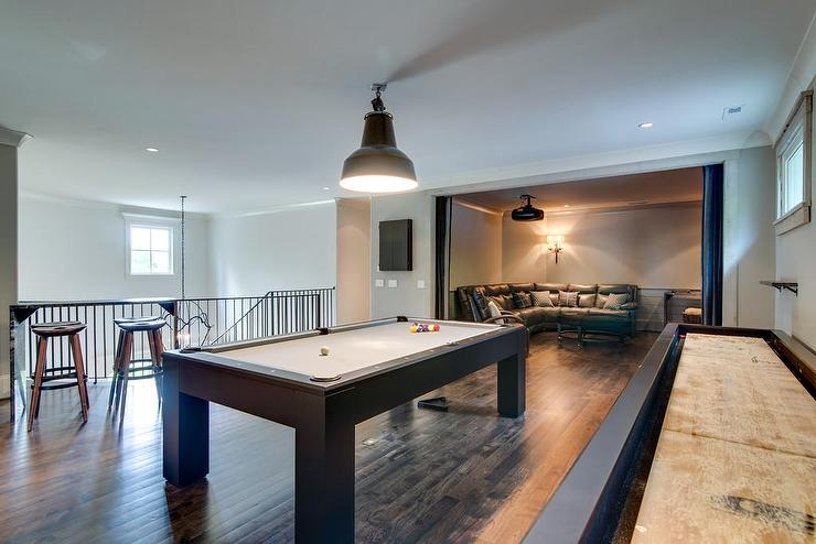 TV Room Ideas Country Media Room Tracy Hardenburg Designs - How big of a room for a pool table
