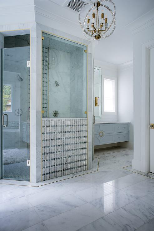 Gold Shower Tile Trim Design Ideas