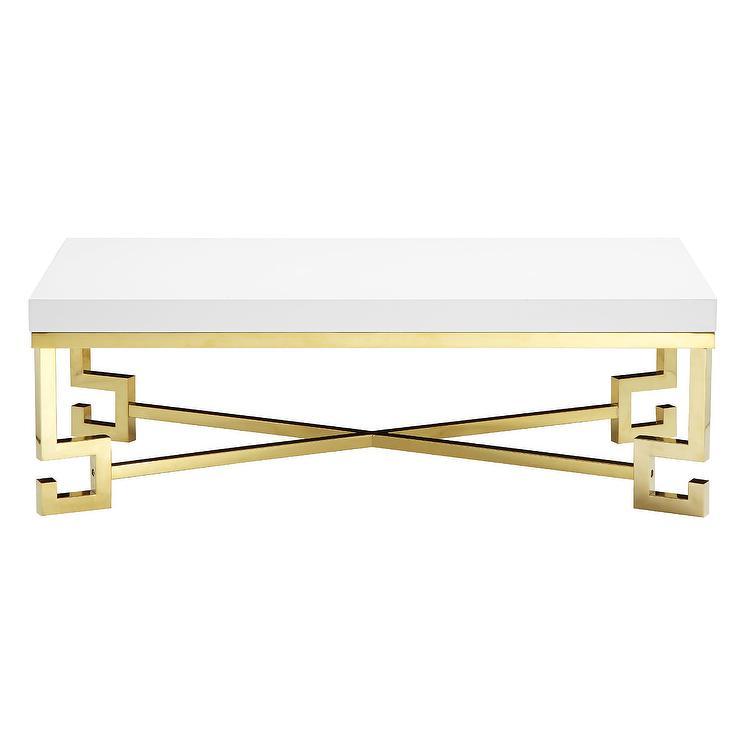Flynn Gold Greek Key Coffee Table