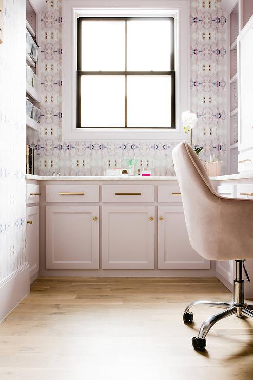pink velvet office desk chair design ideas