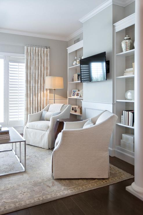 Ivory Slipcovered Accent Chairs