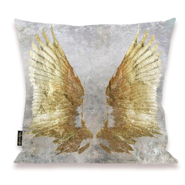 Pudsey My Wings Gold Gray Pillow