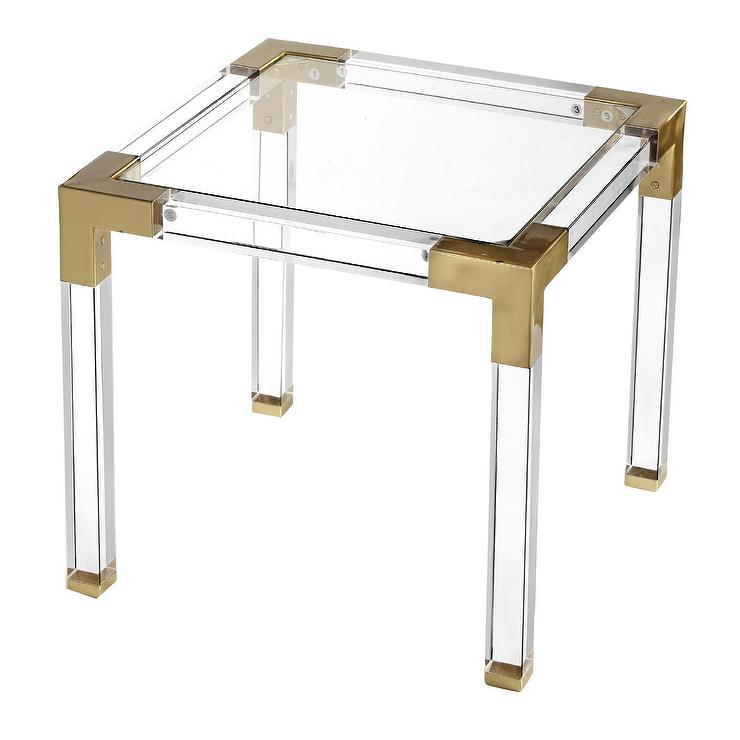 Koryn Round Glass Gold Acrylic Dining Table