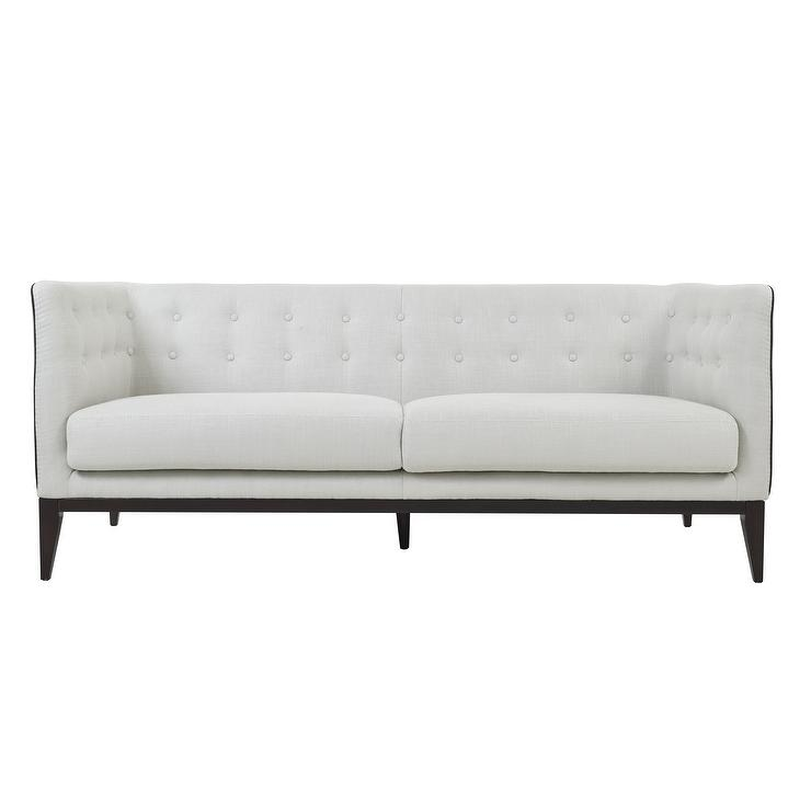 Incredible Winkel White Button Tufted Sofa Creativecarmelina Interior Chair Design Creativecarmelinacom