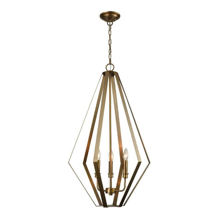Capital Gold Quatrefoil 4 Light Pendant