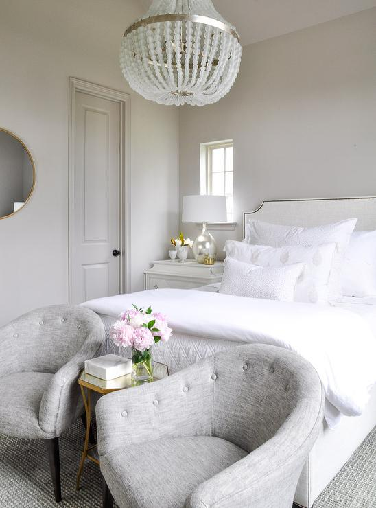 Gray Tufted Bedroom Chairs - Transitional - Bedroom