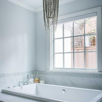 Skylight Over Bathtub Transitional Bathroom
