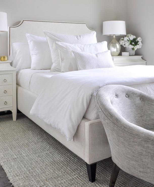 White French 3 Drawer Nightstands - Transitional - Bedroom