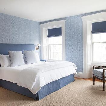 Annsley Interiors · Blue On Blue Bedroom With Blue Nightstands