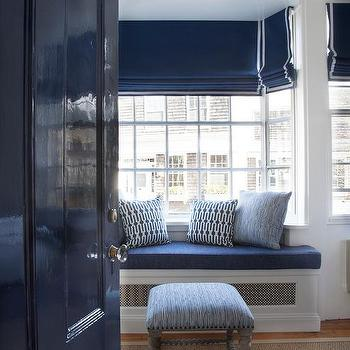 Nice Blue Lacquered Interior Door