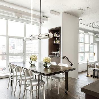 inset dining room bar design ideas