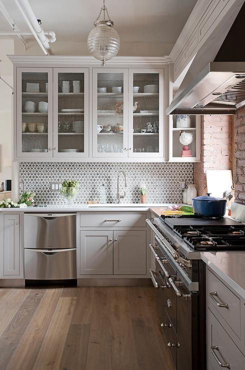 Light Gray Loft Kitchen Transitional Kitchen