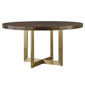 Chisley Round Gold X Frame Dining Table