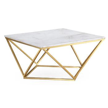 Gold Geometric Coffee Table Look Less And Steals And Deals - Geometric marble coffee table