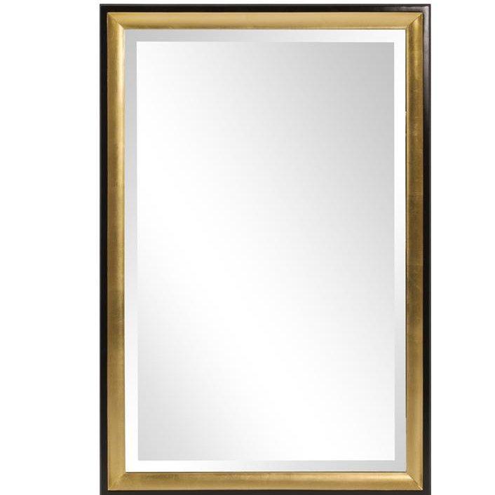 e6a93e5c889e Greatest Rectangular Gold Trimmed Wall Mirror DZ49