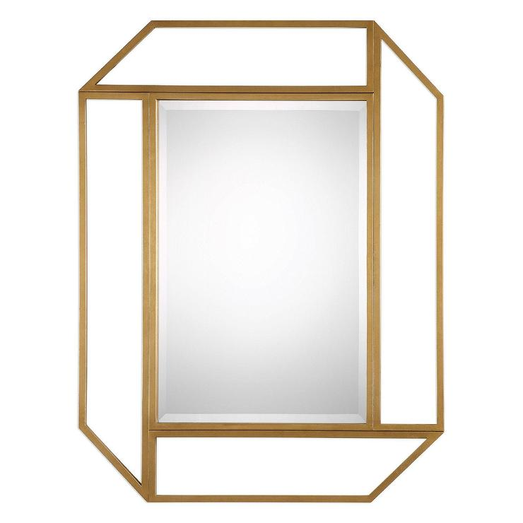 Geometric Wall Mirror geometric metal wall mirror